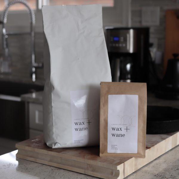 wax and wane coffee 5lb bag 3:4 lb bag