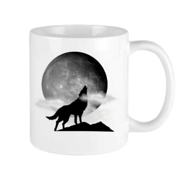 howling moon wax and wane coffee mug
